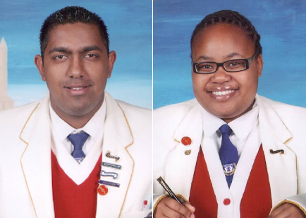 Amish Rajkumar and Thandeka Sithole, elected as the President and the PRO respectively of the Representative Council of Learners (RCL) of Circuit 4.