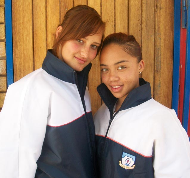 Gauteng netball players - Melanie van den Berg and Kirsten Douw