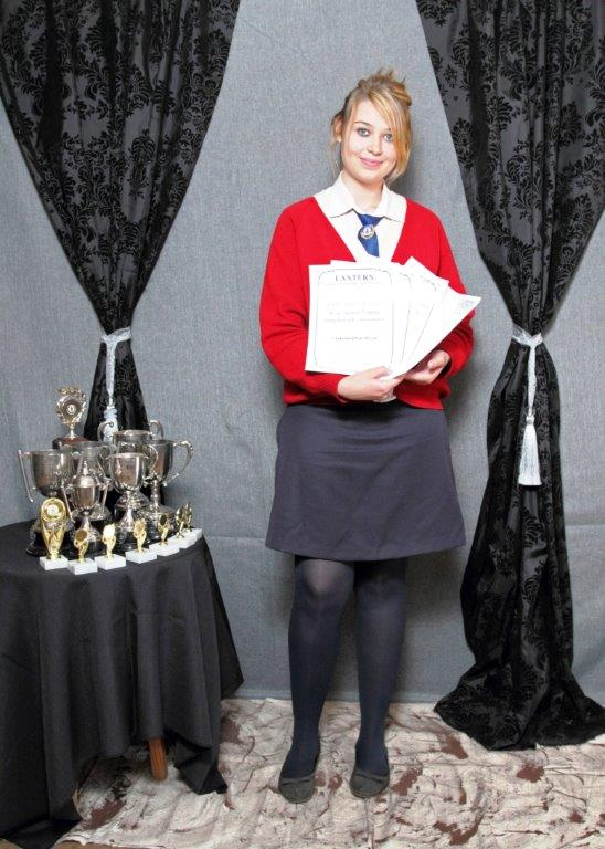 Samantha Wise won the P.G. Swart Trophy, Dux Learner for 2013