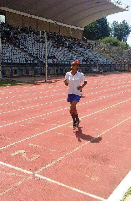 Janai Ludick 1st  1400m - North South athletics meeting held in Pretoria on 16 February 2016