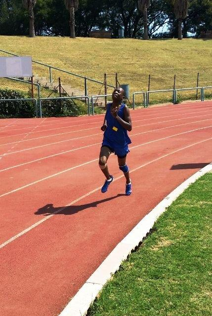 Karabo  Diphko 2nd 1500m and 800m - North South athletics meeting held in Pretoria on 16 February 2016