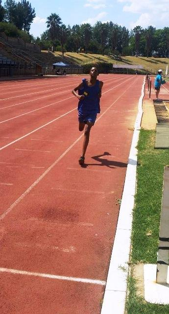 Kgaogelo Ramushu 1st 200m - North South athletics meeting held in Pretoria on 16 February 2016