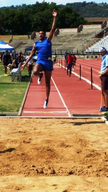Liam Symons 1st Long jump u16 - North South athletics meeting held in Pretoria on 16 February 2016