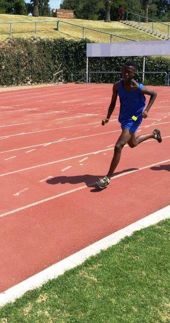 Sisa Siamani 3rd 800m - North South athletics meeting held in Pretoria on 16 February 2016