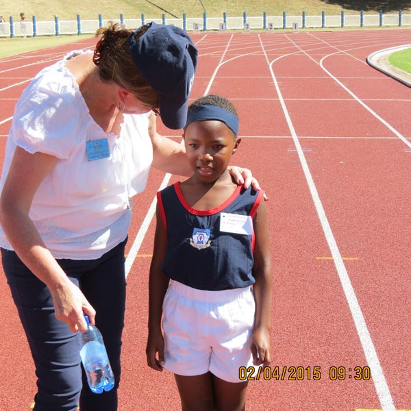 Athletics at Sasolburg - Trudie and Angela