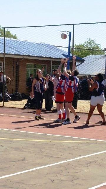 1st Netball Team in action